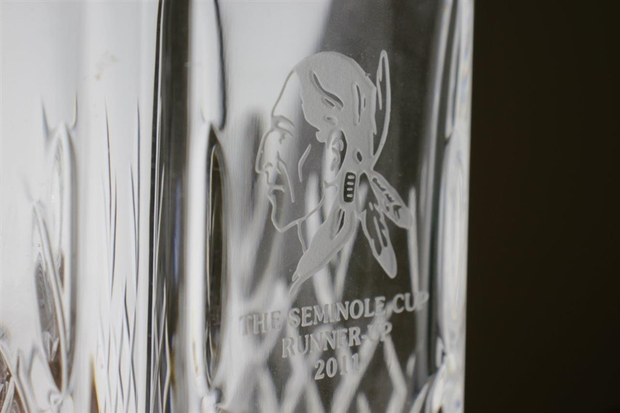 Seminole Golf Club 2011 'The Seminole Cup' Crystal Runner-Up Decanter with Stopper