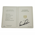Arnold Palmer Signed Baltimore Country Club Official Scorecard JSA #EE96316