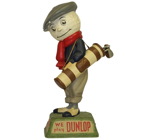 1940's Dunlop Golf Ball Caddie We Play Dunlop Advertising Figural Point Of Purchase Display