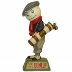 "1940s Dunlop Golf Ball Caddie ""We Play Dunlop"" Advertising Figural Point Of Purchase Display"