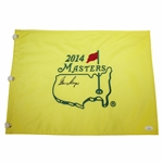 Gary Player Signed 2014 Masters Embroidered Flag JSA #EE96294