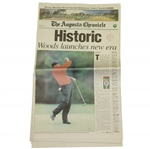 "April 14, 1997 Augusta Chronicle Full Newspaper - ""Woods launches new era"""