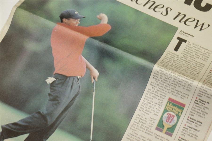 April 14, 1997 Augusta Chronicle Full Newspaper - Woods launches new era