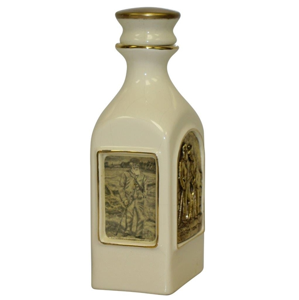 Old Tom & Young Tom Royal English Porcelain Decanter Handcrafted by Artist Bill Waugh