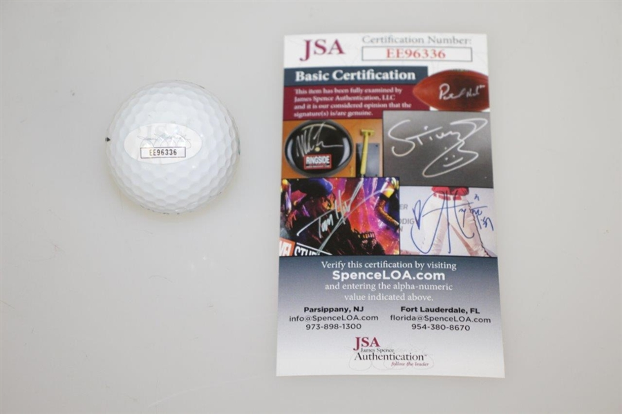 Lot Detail - Shane Lowry Signed Titleist Golf Ball in Green