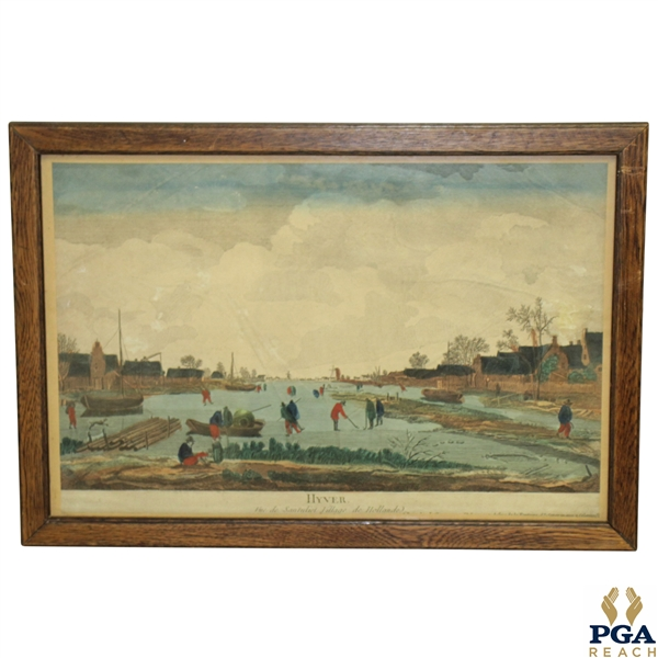 'Hyver Santuliet Village de Hollande' Golf Print