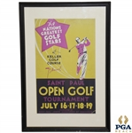 1937 St Paul Open Broadside From Sam Sneads 4th Win - Vibrant Colors