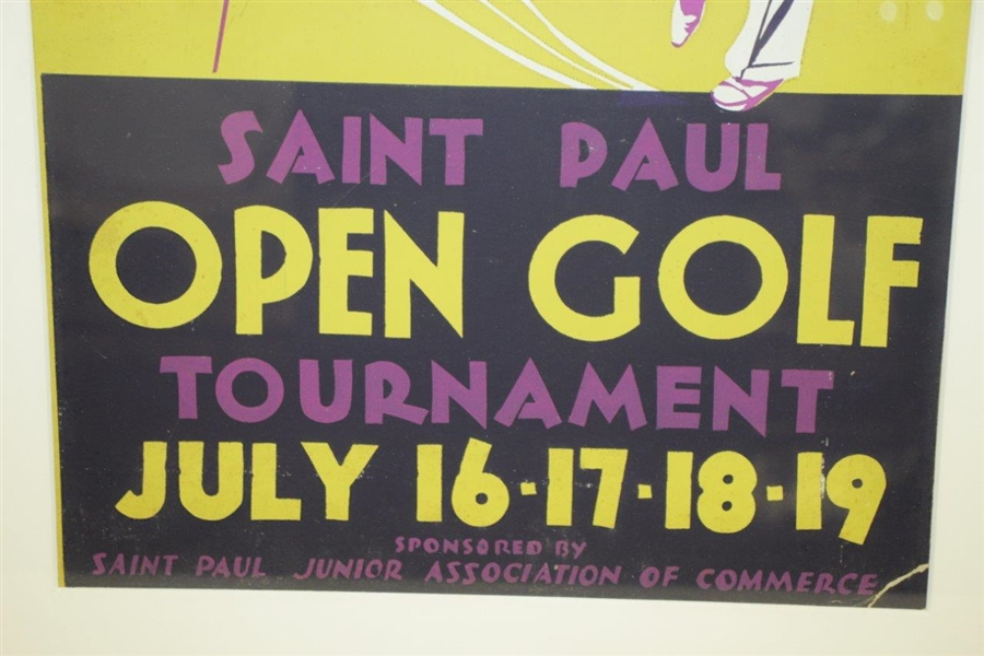 1937 St Paul Open Broadside From Sam Snead's 4th Win - Vibrant Colors