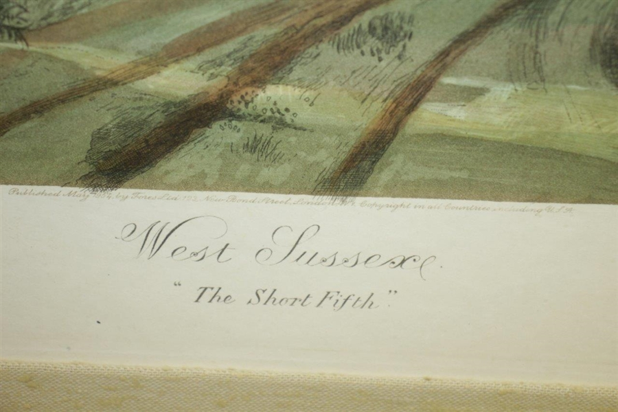West Sussex The Short Fifth Print - 1953 by Ernest Greenwood