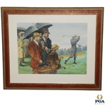 Original Francis D. Ouimet Wins United States Open - 1913 by Leland Gustavson Historical Watercolor