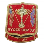 Ray Floyds 1975 Ryder Cup Contestant Bullion Blazer Crest / Badge