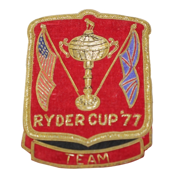 Ray Floyd's 1977 Ryder Cup Contestant Bullion Blazer Crest / Badge