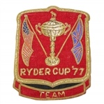 Ray Floyds 1977 Ryder Cup Contestant Bullion Blazer Crest / Badge