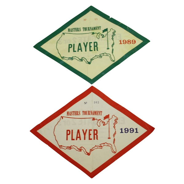 Ray Floyd's 1989 & 1991 Masters Tournament Player / Contestant Parking Passes