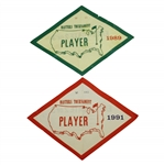 Ray Floyds 1989 & 1991 Masters Tournament Player / Contestant Parking Passes