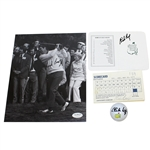 Charles Coody Signed Masters Golf Ball, Augusta Scorecard, 8x10 Photo, & Scorecard JSA ALOA