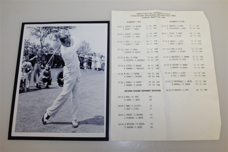 Sam Snead Signed 'Legends of Golf' Players Guide with Photo & Pairing Sheet PSA/DNA #P34685
