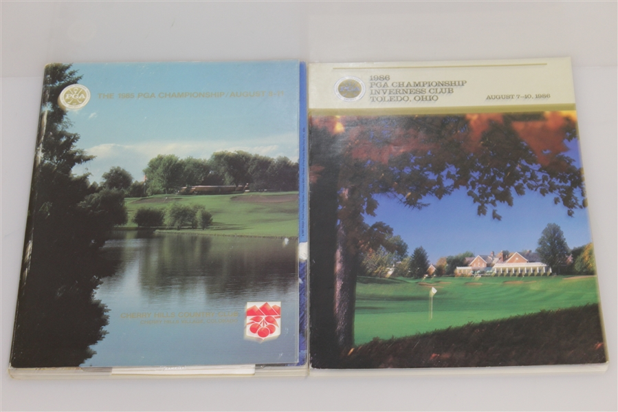 PGA Championship Programs - 1980, 1984, 1985, 1986, 1987 & 1988 - Nicklaus, Trevino Wins Among Others