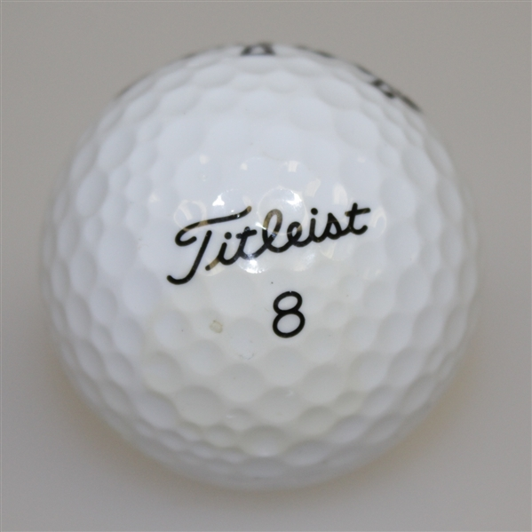 Billy Casper Signed Titleist Logo Ball JSA ALOA