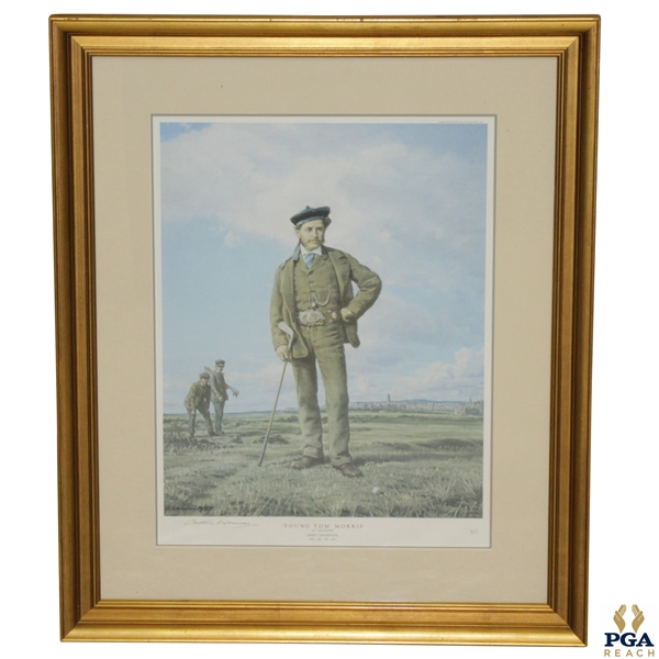 Young Tom Morris Ltd Ed Print by Artist Arthur Weaver  St Andrews Open Champion - 219/650