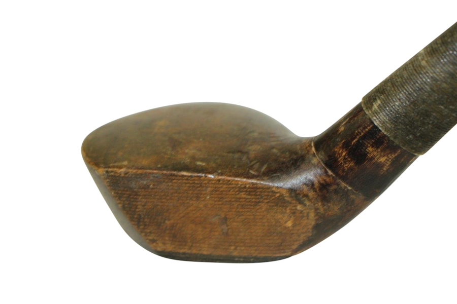 'Prestwick Clubs' Spliced Neck Wood Shafted Wood Circa 1900 w/ Head Stamp