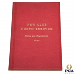 1890 North Berwick New Club Rules & Regulations and List of Members Booklet