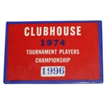Inaugural 1974 TPC Tournament Players Championship Clubhouse Badge - Jack Nicklaus Winner