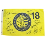 Nicklaus, Watson, Player & Others Signed 2005 US Open Champs Flag w/ Dates JSA ALOA