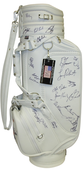 Watson, Langer, Crenshaw, Trevino, Couples & Others Signed Toshiba Classic Bag JSA ALOA