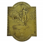 "1927 Gleneagles Golf Club Brass Plate w/ ""Private Colf Club Member"" Engraving"