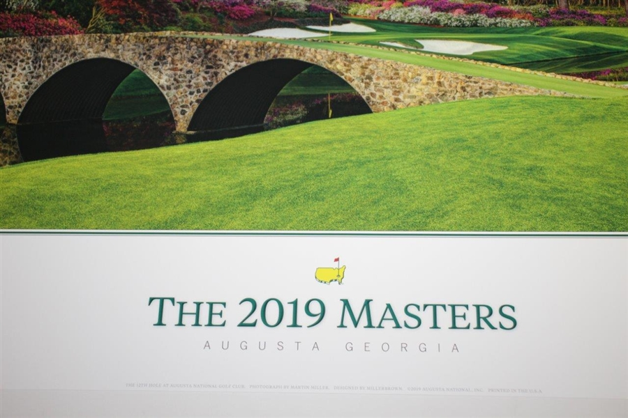 2019 Masters Poster Feat. 12th Hole Tiger Woods' 5th Green Jacket - New in Packaging