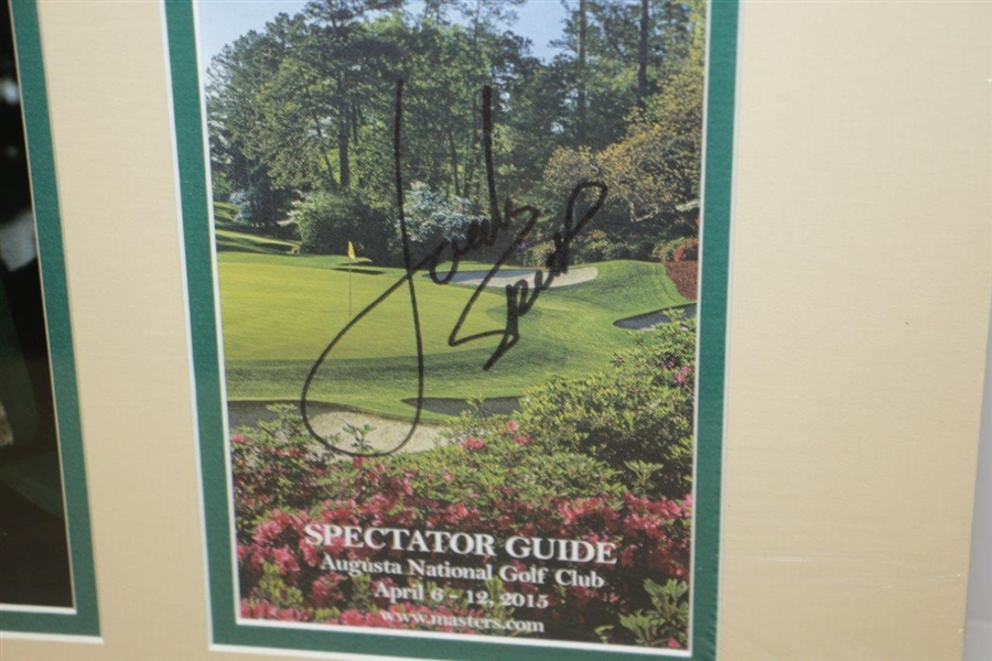 Jordan Spieth Signed 2015 Masters Spec Guide Display w/ Photos JSA #AA68314