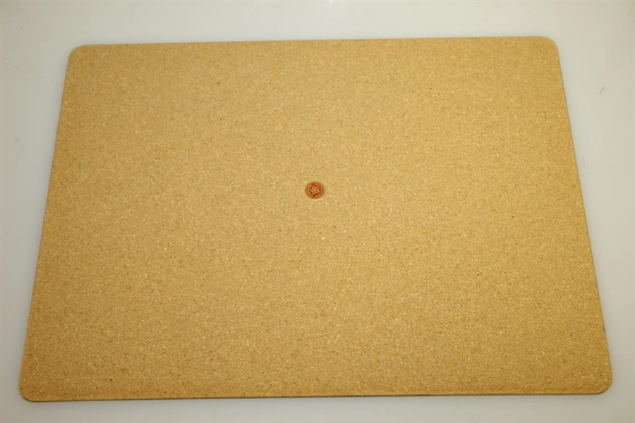 Pebble Beach Cork Board Pace Mats featuring 7th & 18th Holes