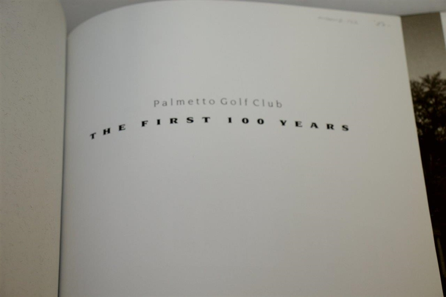 'Palmetto Golf Club - The First 100 Years' 2005 Hardcover Book