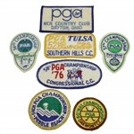 PGA Championship Patches - 1969, 1970, 1974, 1975, 1976, 1977 & 1978 - Nicklaus, Watson