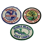 Pebble Beach, Bing Crosby Pro-Am & Firestone CC Patches - Jack Nicklaus Wins