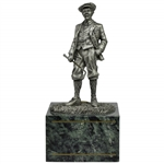 Fine Pewter Golfer Statue on Marble Base by Artist B. Austin - Master Edition