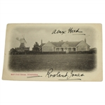 Alex Sandy Herd Signed Wimbledon Golf Club House Postcard JSA ALOA
