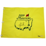 Tiger Woods Signed 2019 Masters Embroidered Flag Limited Ed UDA #BAM113576