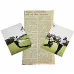 Tiger Woods Amateur Photos Feat. Fluff & Frank w/ 1994 US Amateur Newspaper Clipping