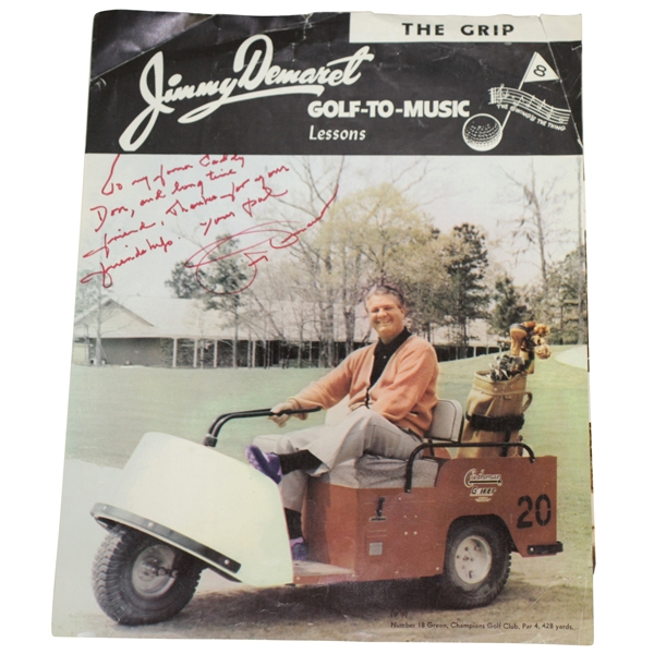 Jimmy Demaret Signed 'Golf-To-Music' Lessons Inscribed to Don Cherry - Champions GC JSA ALOA