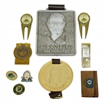 Money Clips, Pins, Ball Markers Accessories - US Open, World Golf Hall of Fame & Others