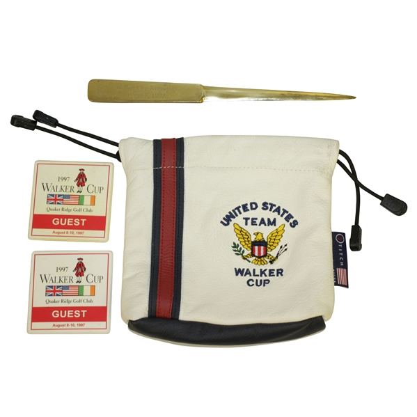 Don Cherry's Walker Cup Reunion Gift w/ US Team Bag & 1997 Guest Badges