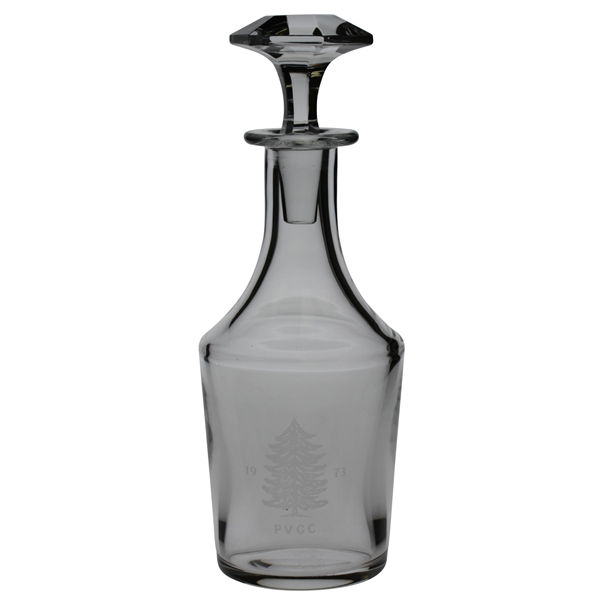 Pine Valley Golf Club Crystal Decanter w/ Stopper