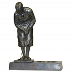 Bobby Jones Putting Cast Iron Statue w/ Tray