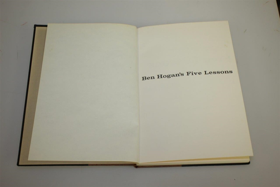 1957 1st Edition Ben Hogans Five Lessons Golf Book - Very Good Condition