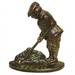 Antique Hubley Cast iron Golfer Door Stop w/ Great Color