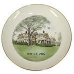 1988 US Open at The Country Club of Brookline Hand Colored Clubhouse Plate