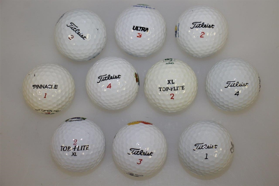 1983 - 2013 Open Championship Balls - 10 in Total From St Andrews, Birkdale & Others