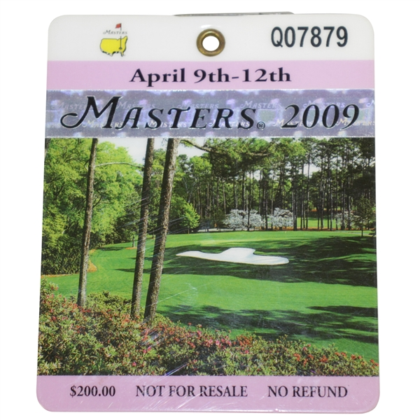 2009 Masters Tournament Badge #Q07879 - Angel Cabrera Winner